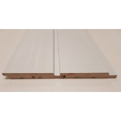 White Cape Cod Rebated Euro Channel Cladding 18mm x 137mm - To Clear