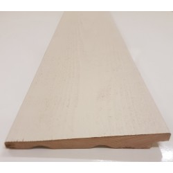 White Cape Cod Rebated Bevel Cladding 22mm x 178mm - To Clear