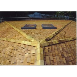 Cedar Shingles - Western Red Cedar Roof Shingles - Untreated Hip & Ridge