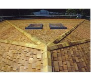 Cedar Shingles - Western Red Cedar Roof Shingles Fire Treated Hip & Ridge